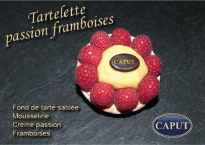 Tartelettes passion framboises